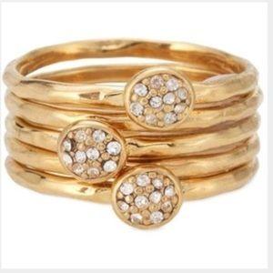Stella & Dot Paloma Stacked Rings Size 6